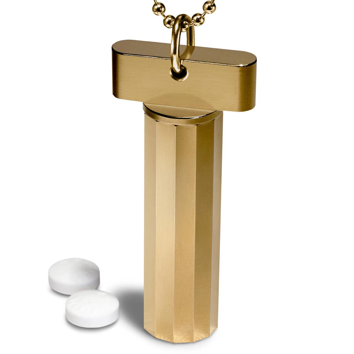Faceted Gold Pill Holder