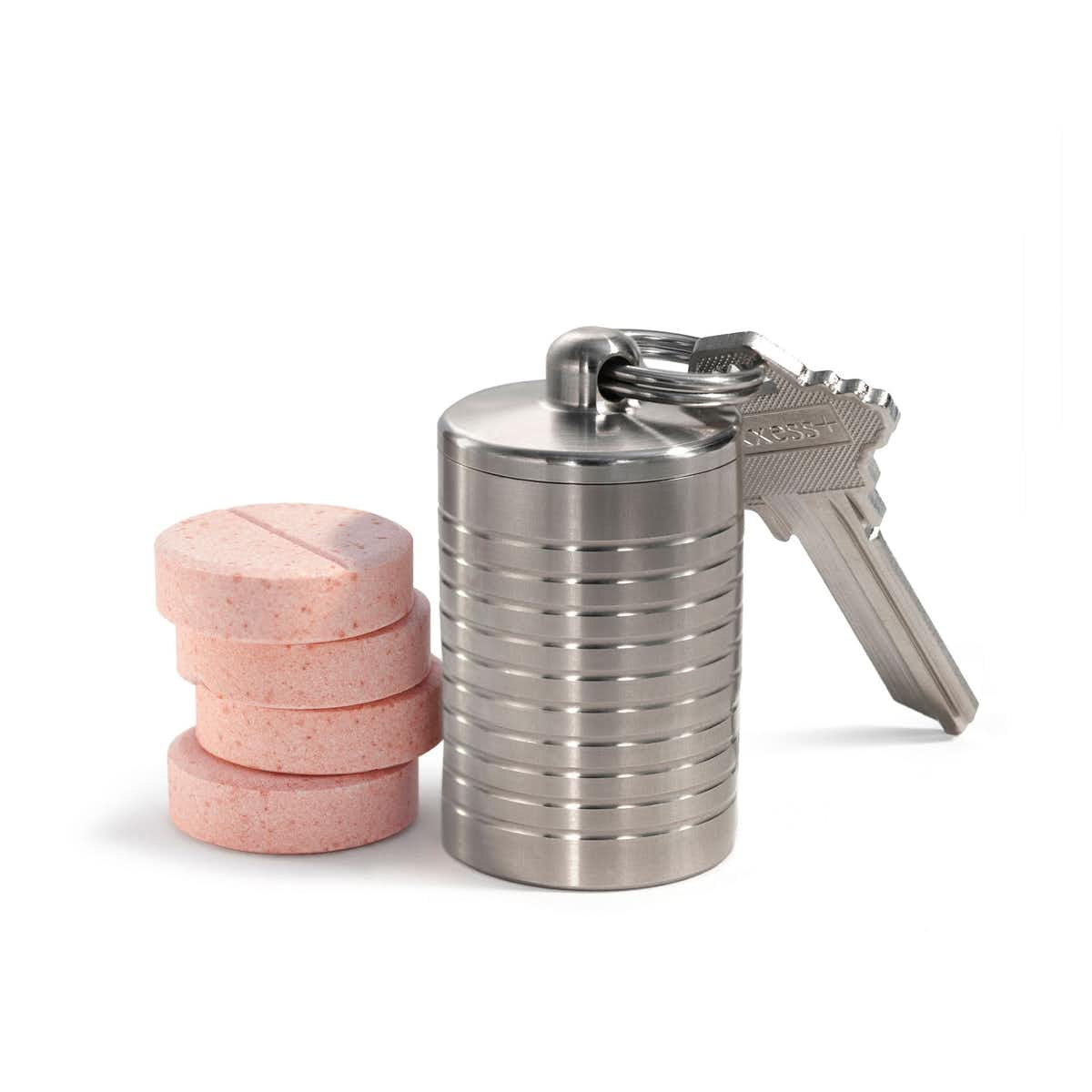 Extra Wide Single Chamber Pill Holder - Stainless Steel